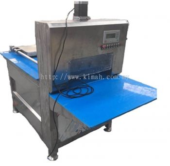 Automatic frozen meat slicer with roll function