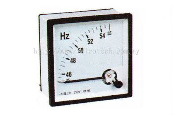 Moving Coil Instruments Frequency Meter Pointer Type