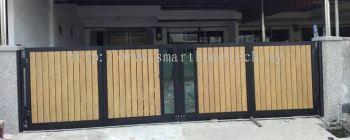 Wood Aluminium Gate