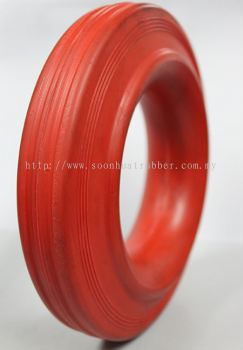 Solid Rubber Red Wheel 200/50-100