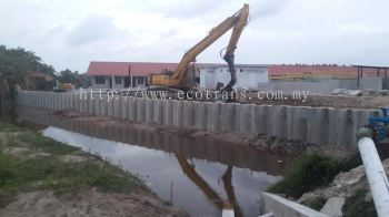 Drive in 250pcs Concrete Sheet Piles