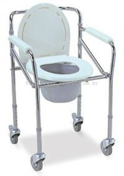FOLDABLE COMMODE CHAIR WITH CASTOR, HH1051
