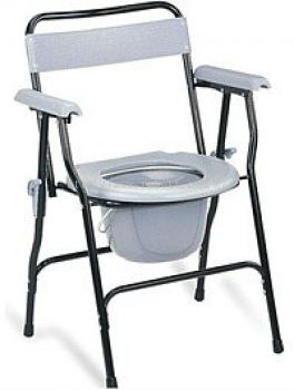 ECONOMIC FOLDABLE COMMODE CHAIR WITH BACKREST & ARMREST, HH1062