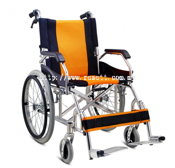 LIGHTWEIGHT WHEELCHAIR, DROP BACK HANDLE & FLIP UP FOOTREST, FS863LAJPF4