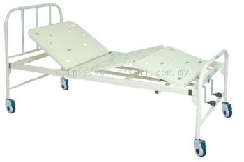 HOSP BED STEEL FRAME DOUBLE FOWLER ON 4 CASTORS