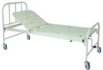 HOSP BED STEEL FRAME SINGLE FOWLER ON 4 CASTORS