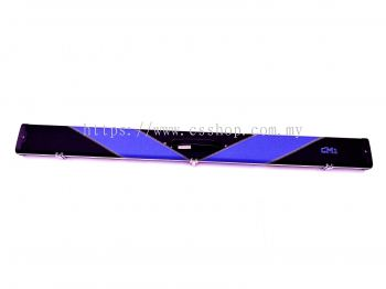 3/4 BLUE-BLACK SNOOKER CUE CASE (2 CUES)