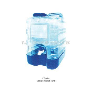 4 Gallon Square Water Tank