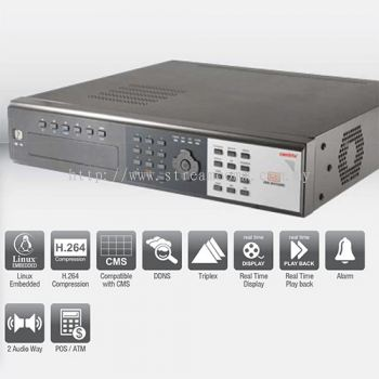 RV 5008P 8 Channel H.264 Mobile Embedded Digital Video Recorder
