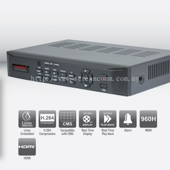 BVR4X 4 Channel H.264 Embedded DVR