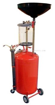 Pneu. Oil Drain w. Transparent Chamber