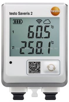 testo Saveris 2-T3 - WiFi data logger with display and 2 connections for TC temperature probes