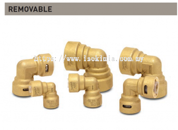 """ZoomLock Push Removable Elbows - 90 Degree (1/4"""")"""