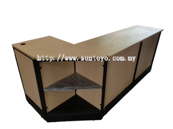Oppa Cashier Counter W/ Triangle Table