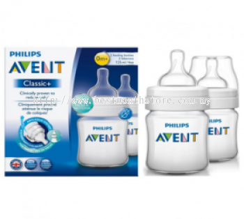 AVENT BOTTLE CLASSIC + PP 125ML/4OZ-TWIN PACK