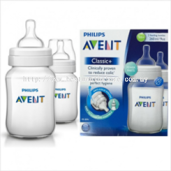 AVENT BOTTLE CLASSIC + PP 260ML/9OZ-TWIN PACK
