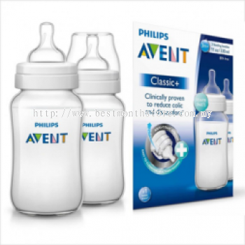 AVENT BOTTLE CLASSIC +PP 330ML/11OZ-TWIN PACK