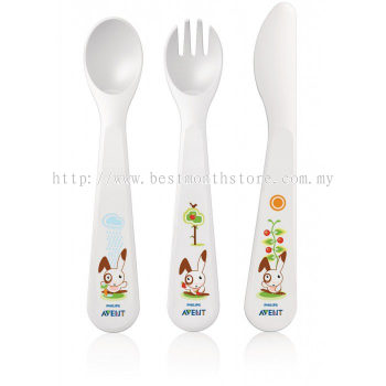 AVENT FORK SPOON&KNIFE 12M+