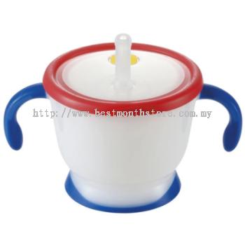 Richell Aqulea Straw Training Mug Navy Blue