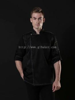 Black Chef Short Sleeve Uniform SS19-7