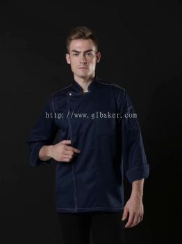 Navy Chef Short Sleeve Uniform SS19-7