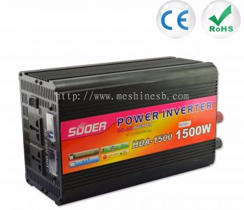 Suoer 1500W 12V 220V Car Inverter with Charger (HDA-1500C)