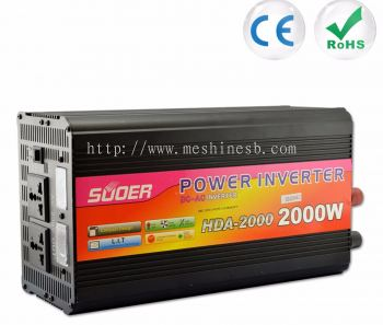 Suoer 2000W Inverter DC 12V to AC 230V Solar Power Inverter (HDA-2000C)