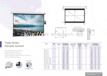 Vista Series Electric Projector Screen