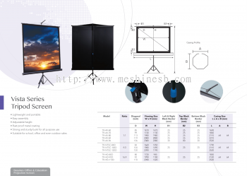 Vista Series Tripod Projector Screen