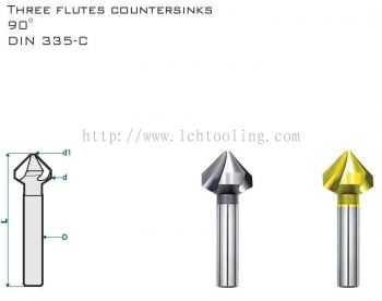 HSS Cobolt Countersinks 90 Degree