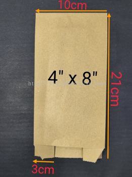 Paper Bag 4''x8'' 100pcs+/-