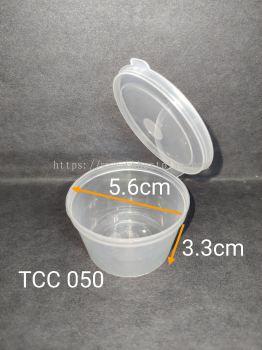 TCC 050 Disposable Plastic Food Container 50pcs+/-