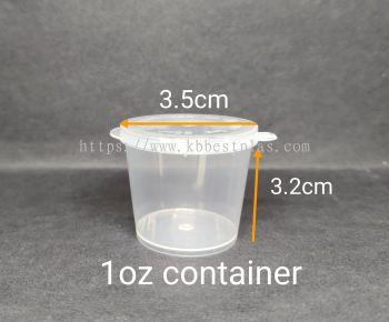 1oz Disposable Plastic Food Container 100pcs+/-