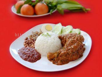 Set Nasi Lemak Rendang Ayam