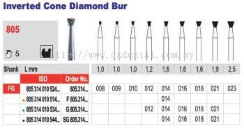 Inverted Cone Diamond Bur