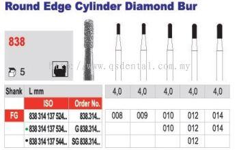 Round Edge Cylinder Diamond Bur