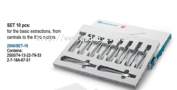 Set of Tooth Forceps 2500/SET-10