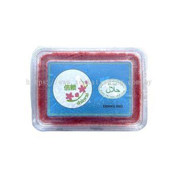 FE0013-1  Ebikko Red 500gm - Shinrai 蝦卵(红)(Halal)
