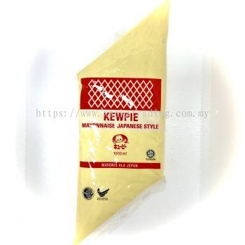 DQ0002-1 Kewpie Mayonnaise Japanese Style (Red) 1Ltr �ձ����������(ԭζ) (Halal)