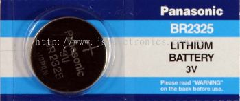 PANASONIC, 3V LITHIUM CELL BATTERY, SIZE BR2325
