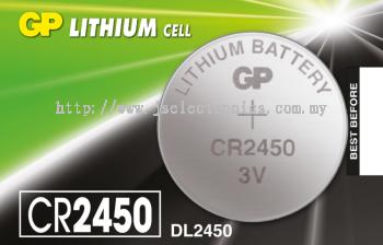 GP LITHIUM COINS CELLS BATTERY ,3V CR2450-7C5