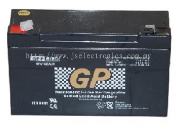 Sealed Lead Acid Battery 6V 12AH GPP6120