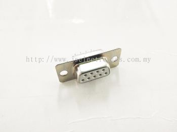 D-SUB 9 WAY SOCKET SOLDER ( WHITE ), FEMALE