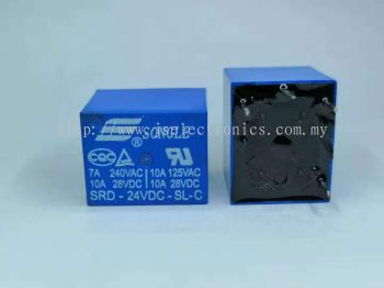 SONGLE Power Relay SRD-24VDC-SL-C4P PCB Type 4pin