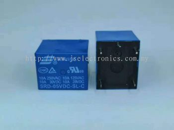 SONGLE Power Relay SRD-5VDC-SL-C PCB Type 5pin