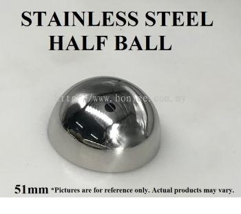 [51mm] STAINLESS STEEL HALF BALL