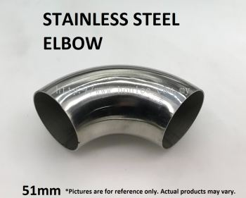 51mm STAINLESS STEEL ELBOW