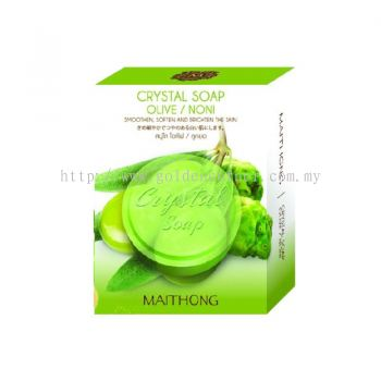Thai Maithong Crystal Soap (Olive/Noni)