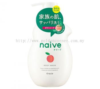 Naive Body Soap (Peach Leaf Extract)-530ml