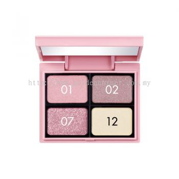 Koji Dolly Wink Custom Shadow Palette - Pink Make Up 4 Shadow (Free Eye Shadow Pallet)
